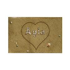 Ayla Beach Love Rectangle Magnet