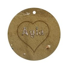 Ayla Beach Love Ornament (Round)