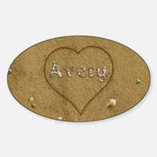 Avery Beach Love Sticker (Oval)