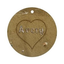 Avery Beach Love Ornament (Round)