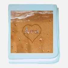 Ava Beach Love baby blanket