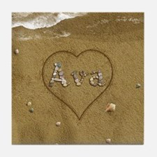 Ava Beach Love Tile Coaster