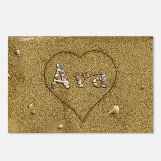 Ava Beach Love Postcards (Package of 8)