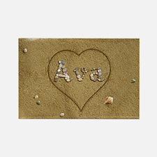 Ava Beach Love Rectangle Magnet