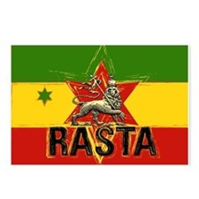 Rasta Lion Postcards (package Of 8)