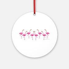 Cool Flamingo Line Ornament (Round)