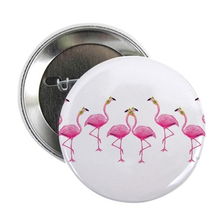 """Cool Flamingo Line 2.25"""" Button (10 pack)"""