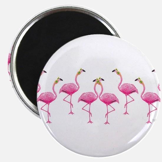 Cool Flamingo Line Magnet