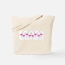 Cool Flamingo Line Tote Bag