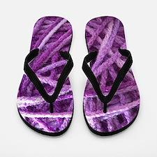 Purple Yarn Flip Flops