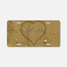 Ashlynn Beach Love Aluminum License Plate