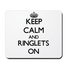 Keep Calm and Ringlets ON Mousepad