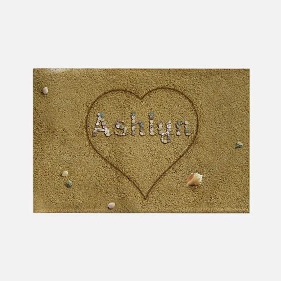 Ashlyn Beach Love Rectangle Magnet