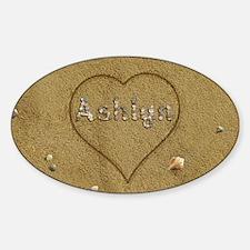 Ashlyn Beach Love Sticker (Oval)