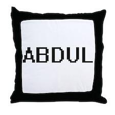 Abdul Digital Name Design Throw Pillow