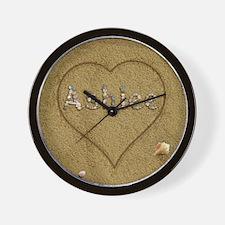 Ashlee Beach Love Wall Clock