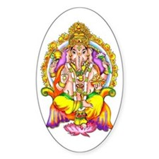 Ganesh Oval Decal