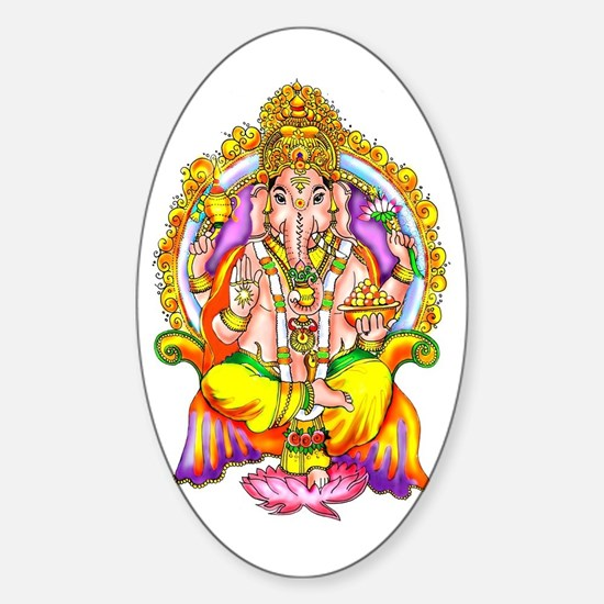 Ganesh Oval Stickers