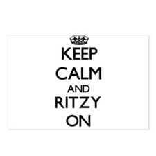 Keep Calm and Ritzy ON Postcards (Package of 8)