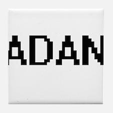 Adan Digital Name Design Tile Coaster