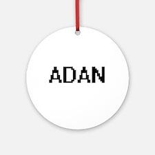 Adan Digital Name Design Ornament (Round)