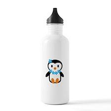 Luau penguin Water Bottle