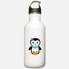 Luau penguin Water Bottle