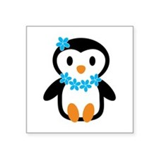 Luau penguin Sticker