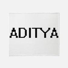 Aditya Digital Name Design Throw Blanket
