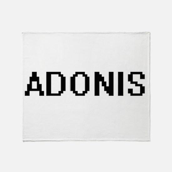 Adonis Digital Name Design Throw Blanket