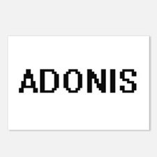 Adonis Digital Name Desig Postcards (Package of 8)