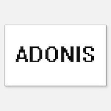 Adonis Digital Name Design Decal