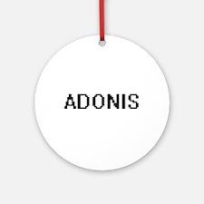 Adonis Digital Name Design Ornament (Round)