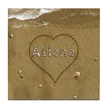 Arlene Beach Love Tile Coaster