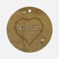 Arielle Beach Love Ornament (Round)