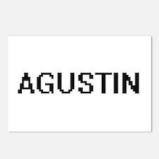 Agustin Digital Name Desi Postcards (Package of 8)