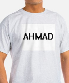 Ahmad Digital Name Design T-Shirt