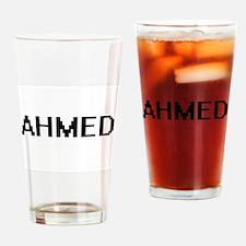 Ahmed Digital Name Design Drinking Glass