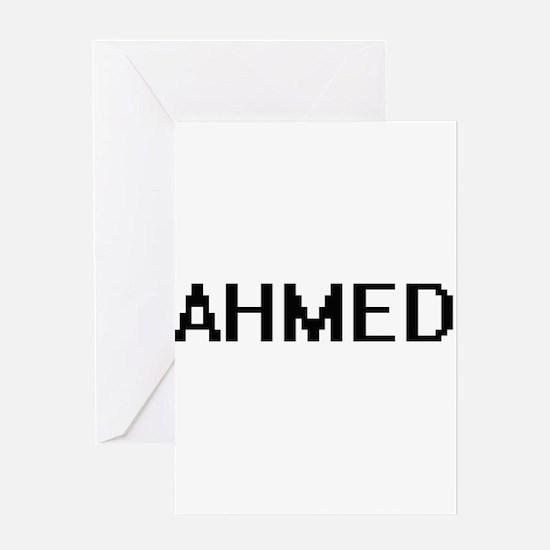 Ahmed Digital Name Design Greeting Cards