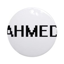 Ahmed Digital Name Design Ornament (Round)