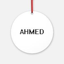 Ahmed Digital Name Design Ornament (Round)