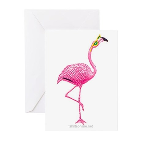 One Cool Flamingo Greeting Cards (Pk of 10)