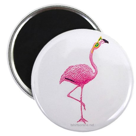"""One Cool Flamingo 2.25"""" Magnet (10 pack)"""