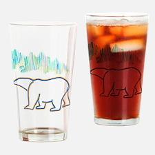 POLAR BEAR AND NORTHERN LIGHTS Drinking Glass
