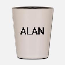 Alan Digital Name Design Shot Glass