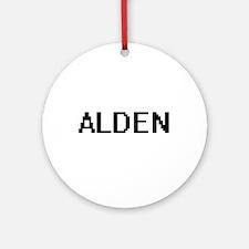 Alden Digital Name Design Ornament (Round)
