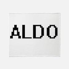 Aldo Digital Name Design Throw Blanket