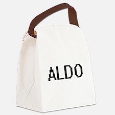 Aldo Digital Name Design Canvas Lunch Bag