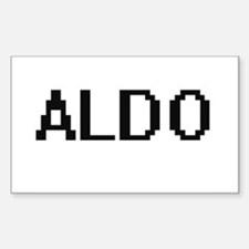 Aldo Digital Name Design Decal