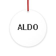 Aldo Digital Name Design Ornament (Round)